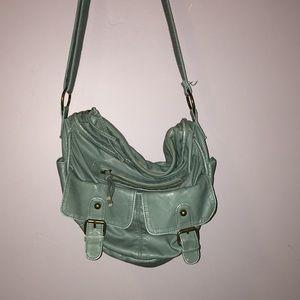 Turquoise shoulder purse